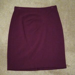The Limited cranberry pencil skirt